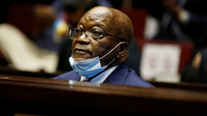 Former South African president Jacob Zuma sentenced to15 months..