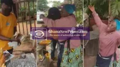 Emotional: Tear flows roasted corn seller after a stranger gifts her GH¢ 1.5k
