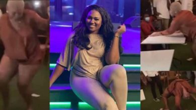 Abena Korkor turns stripper as she gives free show at a party