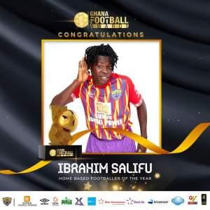 Ghana Football Awards: Ibrahim Salifu reacts after winning Best Home-base male player award [Video]