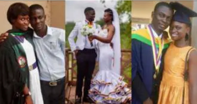 Man marries schoolmate; story of their beautiful love life told in photos Image