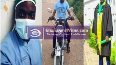 Degree-holding Ghanaian nurse turns Okada rider