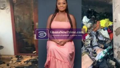 Ghanaian actress Beverly Afaglo's House Burnt To Ashes (+VIDEO)
