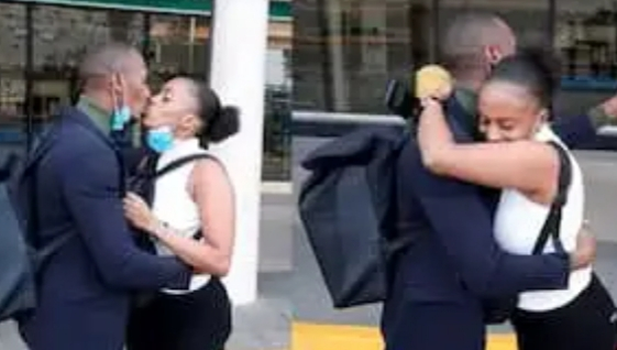 Couple in Long Distance Relationship Gets Emotional at JKIA after Seeing Each Other