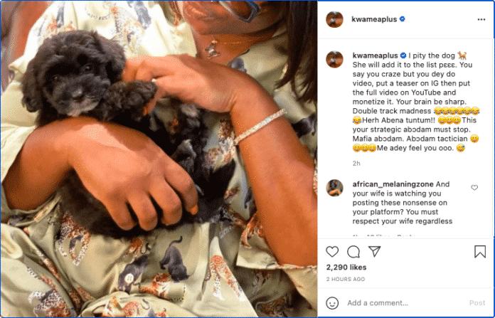 Abena Korkor would soon tell us she slept with a dog – A Plus