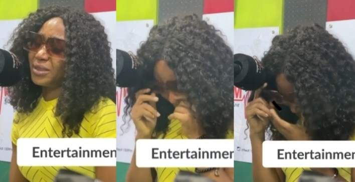 Akuapem Poloo break in tears discussing harm from industry people (WATCH)