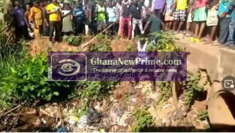 Dead body found in a drain at Manya Krobo