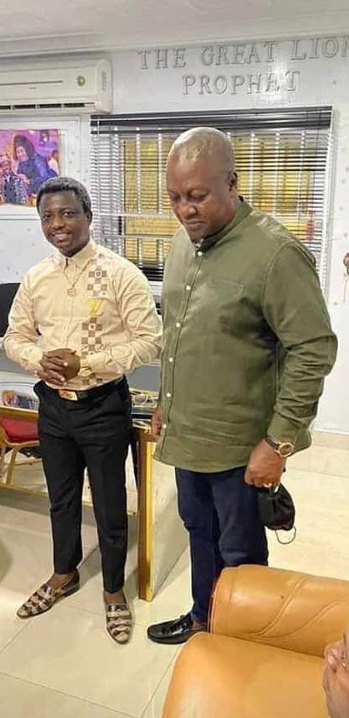 John Mahama and NDC executives visit 'Prophet 1' for spiritual direction to win 2024 elections