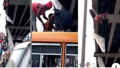 Photo of (Hot Video): Man attempts suicide on Kaneshie Market overpass