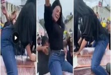 Photo of WATCH VIDEO: Woman twerks on top of half-opened coffin as funeral takes strange turn