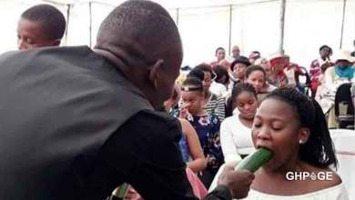 Photo of Pastor teaches female members of his church how to give their lovers BJ (WATCH)