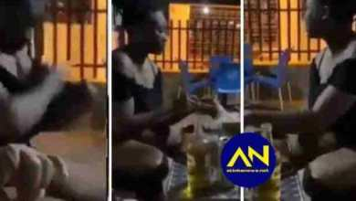 Photo of Lady caught stealing tilapia, hides it in her Bra – VIDEO