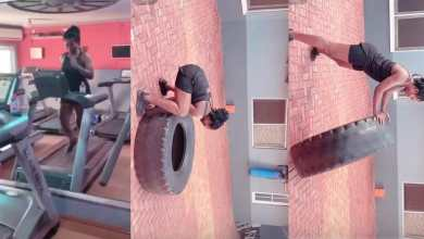 Photo of Video: Tracy Sarkcess shares video of herself working out(Watch)