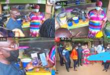 Photo of Video of Bawumia buying waakye from Aunty Muni hits the internet (Watch)