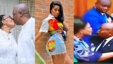 Photo of Efia Odo subtly 'mocks' President Akufo-Addo (screenshot)