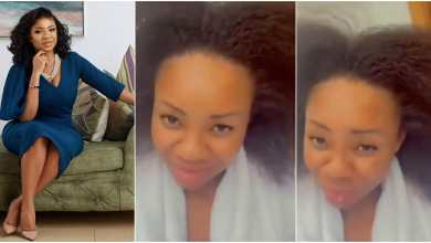 Photo of Real face of Serwaa Amihere without makeup and Bone Straight hair surfaces on the internet (Watch Video)