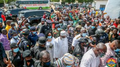Photo of Photos: Alban Bagbin mobbed by massive crowd as he storms hometown