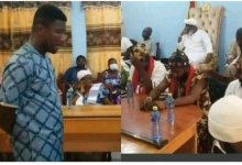 Photo of Radio presenter fined GH¢100K, 25 white fowls, red eggs, 7 goats, others by Nungua Traditional Council