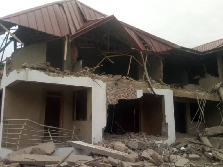 Demolishing at Nigerian High Commission in Ghana