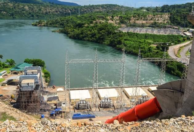 Akosombo Dam in Eastern Region