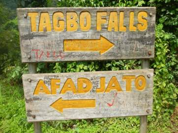 Tagbo Falls and Mount Afadjato directions