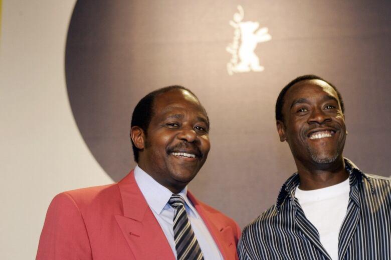 Paul Rusesabagina and Don Cheadle
