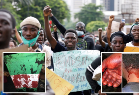 Disturbing scenes as ENDSARS Protest turns bloody after Military opens fire on Protesters
