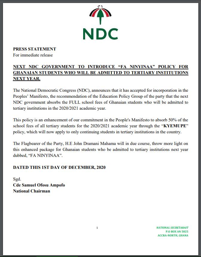 NDC promise