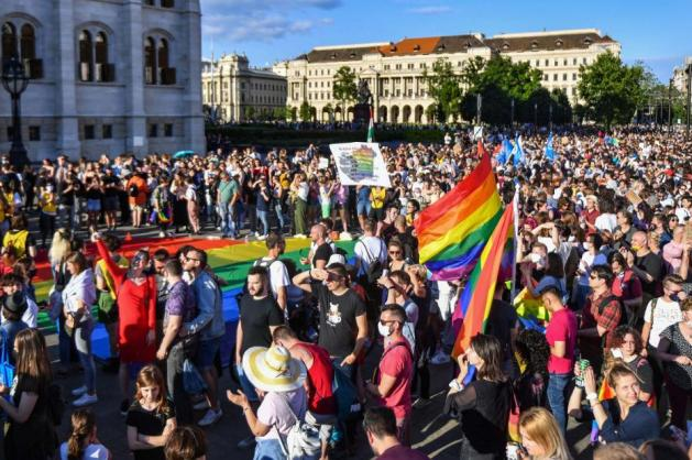 Hungarians protest against legislation banning LGBTQ rights discussions in schools