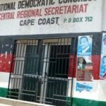Robbers raid NDC office in Cape Coast; bolt with GHc3000, Plasma TVs