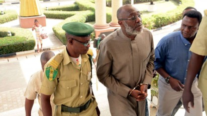 Metuh brought to court today in handcuff