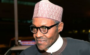 Nigeria President Muhammadu Buhari arrives at Indira Gandhi International Airport for the Third India-Africa Forum Summit in New Delhi on October 27, 2015. India is hosting an unprecedented gathering of Africa's leaders as it ramps up the race for resources on the continent, where its rival China already has a major head start. AFP PHOTO