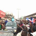 Nana Addo storms Abossey Okai as part of 3-day Accra tour