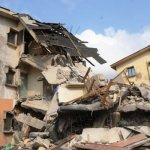 Collapsed church: Family escapes death