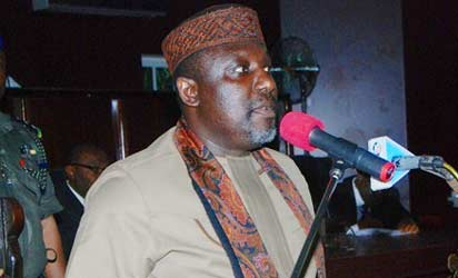 Owelle Rochas Okorocha OON addressing members of the Imo House of Assembly and cross sections of the public
