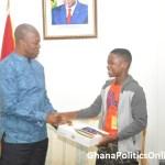 Veep Amissah-Arthur Presents Ghanaian Teenage Movie Star With A Laptop