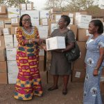 Frist Lady Provides Education Materials & Medical Supplies To Some CHPS Compounds At Ampoma in B...