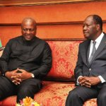 President Mahama Arrives In Abidjan