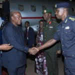 Mahama arrives in Kigali for AU Session