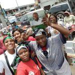 Thousands Of NPP Fans Receive DOVES For Mahama At Kantamanto Market