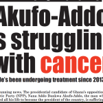 You are sick with Prostate cancer - Editor Of Africa-Watch Tells Akufo Addo