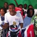 Lucky Mensah performs at NPP rally; mocks John Mahama