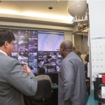 President Mahama visits the New York Traffic Management Center