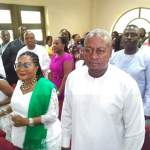 President Mahama and family attend thanksgiving service at Assemblies of God