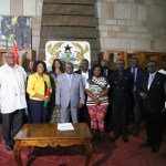 Akufo-Addo shares with his family