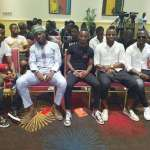 When NPP team met the Black Stars (Pictures +Video)