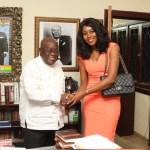 Yvonne Nelson meets president-elect Nana Akufo-Addo