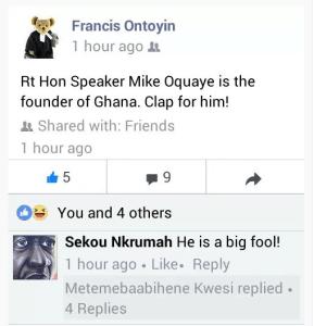 Sekou fool insult