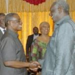President Mills meets Former President Kufuor