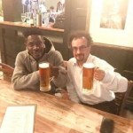 Shatta Wale Hangouts With Jon Benjamin In London (PIC)